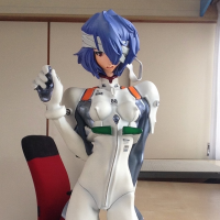 Rei Ayanami 1/4 Polystone Figure Kaiyodo Pre-Owned No box