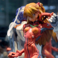 Asuka Langley 1/4 Polystone Figure Kaiyodo Pre-Owned