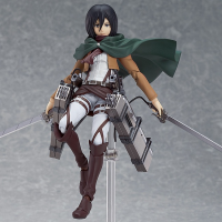figma Mikasa Ackerman with Rooftop Stage Base (Pre-owned)